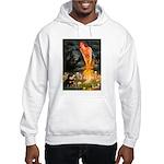 Fairies / Pomeranian (b&t) Hooded Sweatshirt