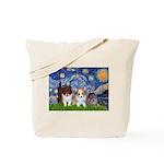 Starry Night /Pomeranian pups Tote Bag