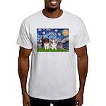 Starry Night /Pomeranian pups Light T-Shirt