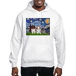 Starry Night /Pomeranian pups Hooded Sweatshirt