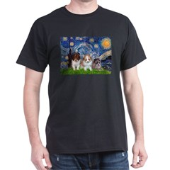 Starry Night /Pomeranian pups T-Shirt