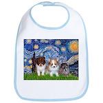 Starry Night /Pomeranian pups Bib