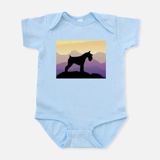 Purple Mt. Mini Schnauzer Infant Bodysuit