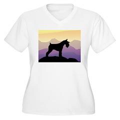 Purple Mt. Mini Schnauzer T-Shirt