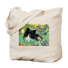 Irises / Pomeranian(bb) Tote Bag