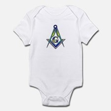 "Masonic ""Just like Pop"" Infant Creeper"