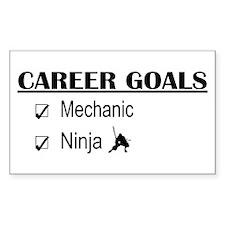 Mechanic Career Goals Rectangle Decal