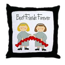 BFF Hearts-Best Friends Throw Pillow