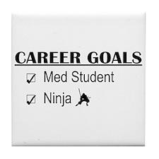 Career Goals Med Student Tile Coaster