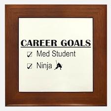 Career Goals Med Student Framed Tile