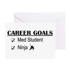 Career Goals Med Student Greeting Cards (Pk of 10)