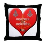 Masonic brother to brother throw Pillow