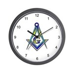 Masonic Square and Compasses Wall Clock