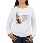 "Dickens ""Dishonesty"" Women's Long Sleeve T-Shirt"
