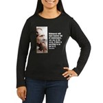 "Dickens ""Dishonesty"" Women's Long Sleeve Dark T-Sh"