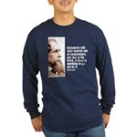 "Dickens ""Dishonesty"" Long Sleeve Dark T-Shirt"