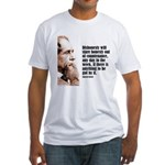 "Dickens ""Dishonesty"" Fitted T-Shirt"