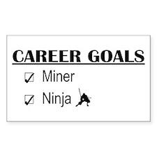 Career Goals Miner Rectangle Decal