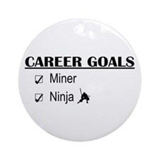 Career Goals Miner Ornament (Round)
