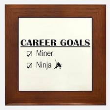 Career Goals Miner Framed Tile