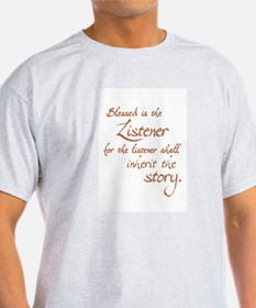 Blessed Is the Listener Ash Grey T-Shirt