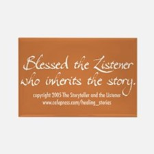 Blessed Is the Listener Rectangle Magnet