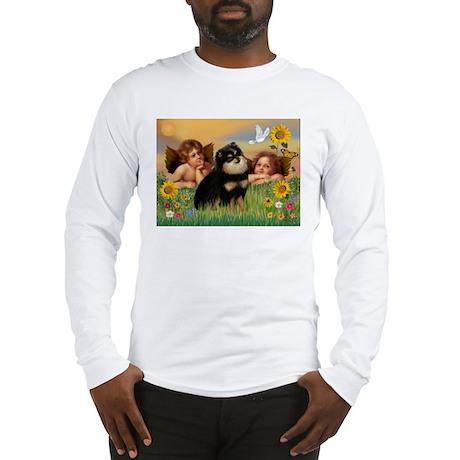Angels / Pomeranian (b&t) Long Sleeve T-Shirt