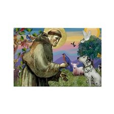 Francis / Dalmation Rectangle Magnet (10 pack)