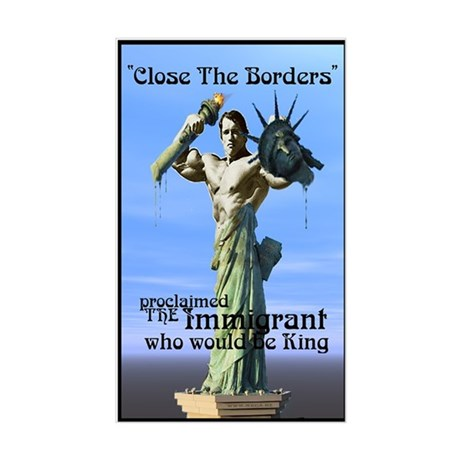 Close the Borders Rectangle Sticker