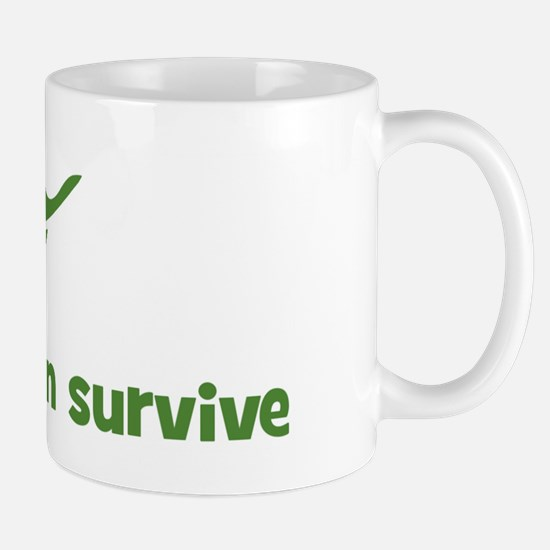 I will and can survive (leaf) Mug
