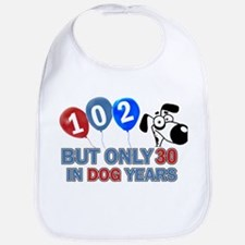 102 Birthday Design Baby Bib