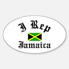 I rep Jamaica Oval Decal