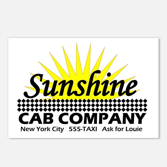Sunshine Cab Co Postcards (Package of 8)
