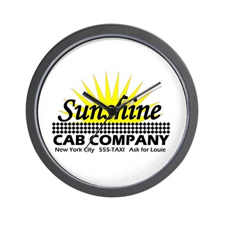 Sunshine Cab Co Wall Clock