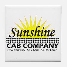 Sunshine Cab Co Tile Coaster