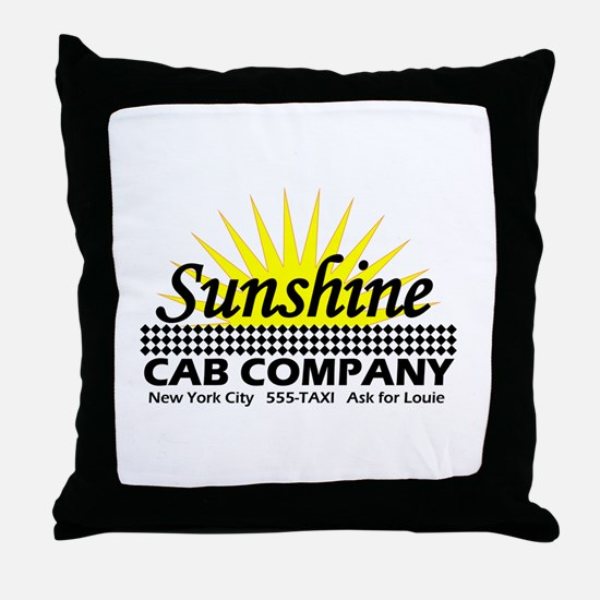 Sunshine Cab Co Throw Pillow