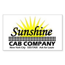 Sunshine Cab Co Rectangle Decal