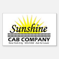 Sunshine Cab Co Rectangle Decal