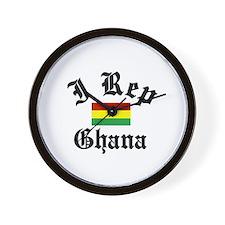 I rep Ghana Wall Clock