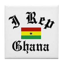 I rep Ghana Tile Coaster