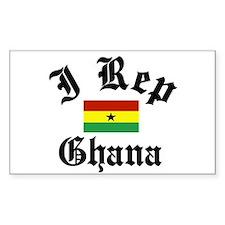 I rep Ghana Rectangle Decal