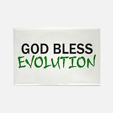 God Bless Evolution Rectangle Magnet