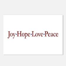Joy Hope Love Peace Postcards (Package of 8)