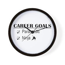 Paramedic Career Goals Wall Clock