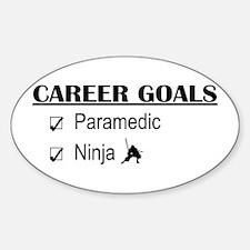 Paramedic Career Goals Oval Decal