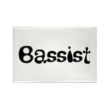 Bassist B/W Rectangle Magnet