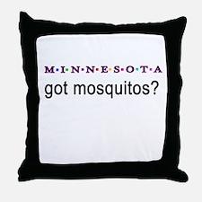 Minnesota mosquitos Throw Pillow