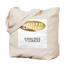 """Santo Subito!"" John Paul Tote by Covenant Gear"