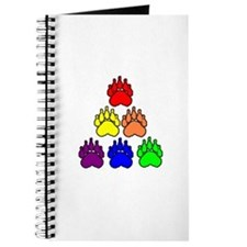 6 RAINBOW BEAR PAWS TRIANGLE Journal