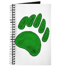 DARK GREEN BEAR PAW Journal